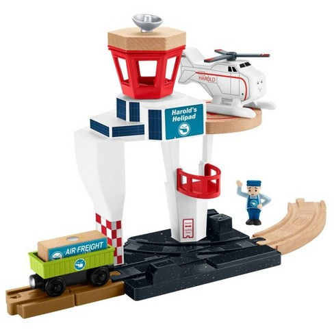Fisher-Price Thomas & Friends Wood Harold's Heleport - image 1 of 4
