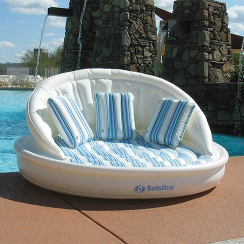 Swimline Solstice 15135HR Inflatable 3 Person AquaSofa Couch Float Raft w/ Pump - image 1 of 4