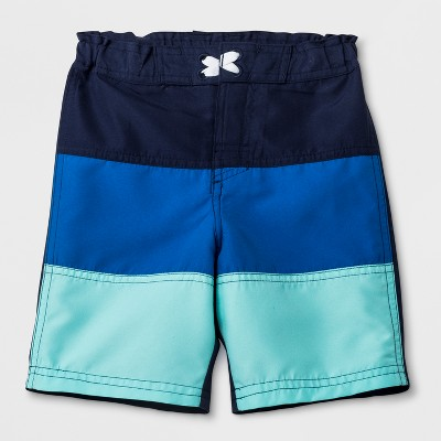 Toddler Boys' Adaptive Adjustable Swim Trunks - Cat & Jack™ Blue 2T