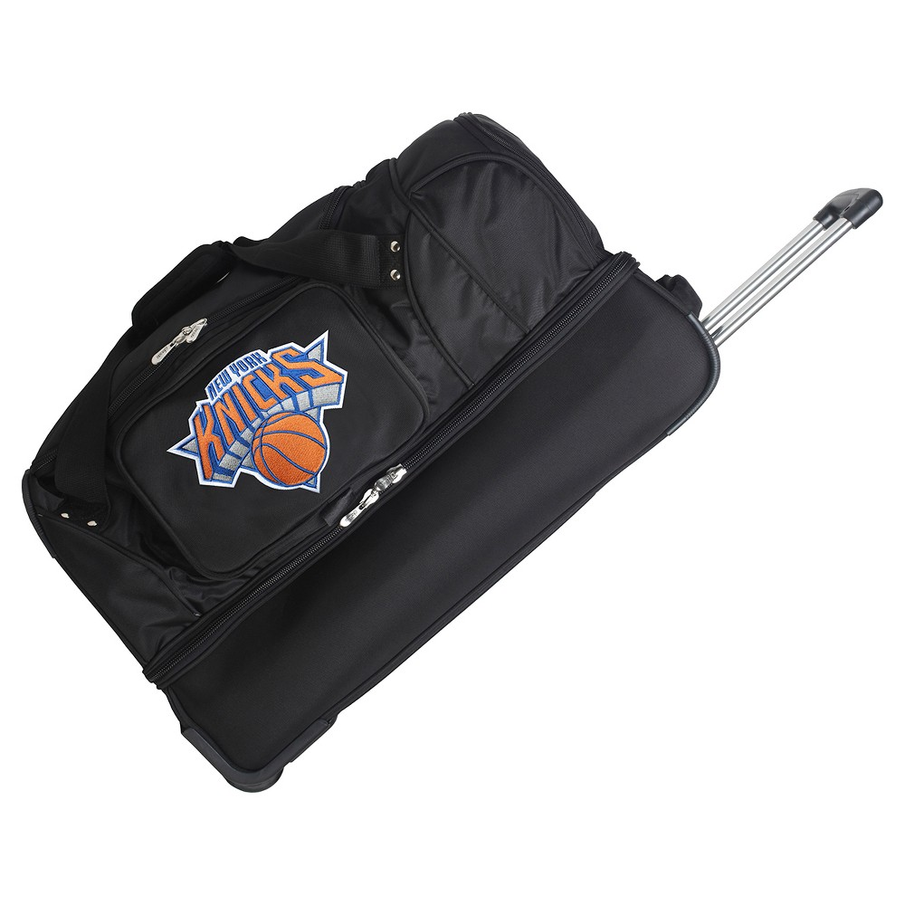 NBA New York Knicks Mojo 27 Rolling Drop Bottom Duffel Bag