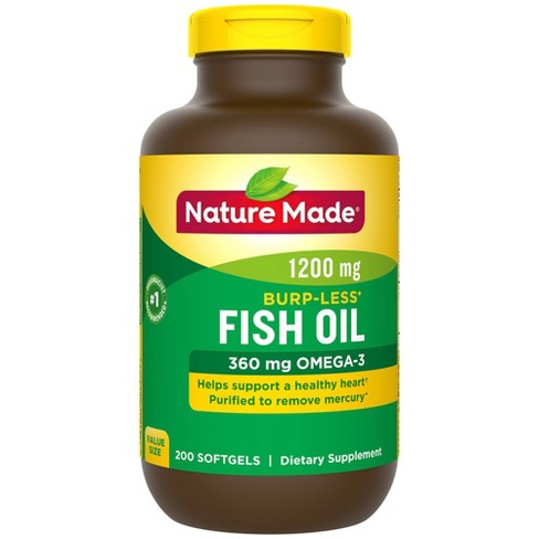Nature Made Odorless Fish Oil Dietary Supplement Liquid Softgels - 200ct - image 1 of 3