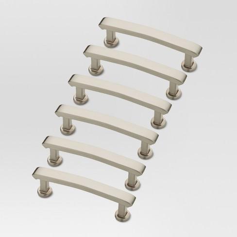 Allston Pull - 6-pack - Satin Nickel - Threshold™ - image 1 of 1
