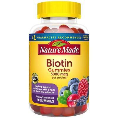 Vitamins & Supplements: Nature Made Biotin Gummies