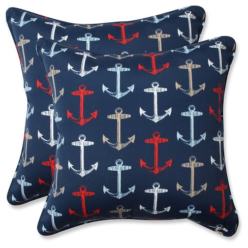 3db3b3a97a6 Pillow Perfect Outdoor Indoor Anchor All Throw Pillow Set