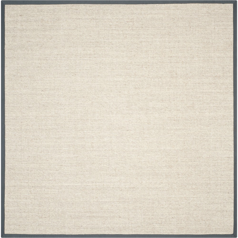 9'X9' Solid Loomed Square Area Rug Marble/Gray - Safavieh
