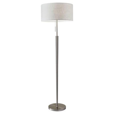 Adesso Hayworth Floor Lamp - Silver