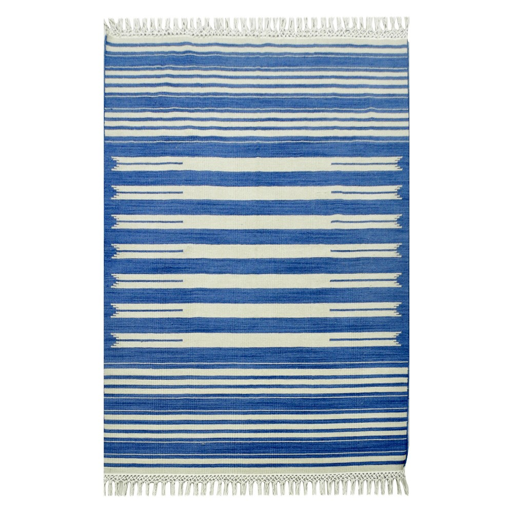 7'x10' Flatweave Striped Area Rug Blue - Threshold was $289.99 now $144.99 (50.0% off)