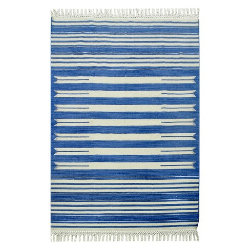 Flatweave Striped Area Rug 7 X10 Blue Target