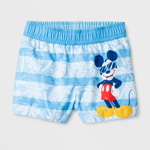 fea16f21c3 Baby Boys' Disney Mickey Mouse Swim Trunks - Turquoise : Target