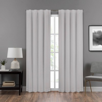 "95""x40"" Draftstopper Summit Solid Room Darkening Window Curtain Panel Light Gray - Eclipse"