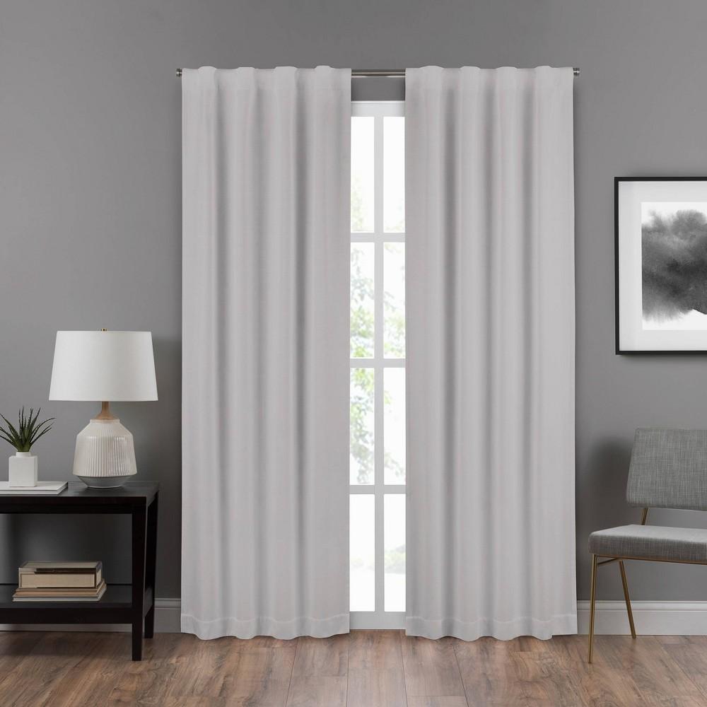 95 34 X40 34 Summit Solid Draft Stopper Room Darkening Window Curtain Panel Light Gray Eclipse
