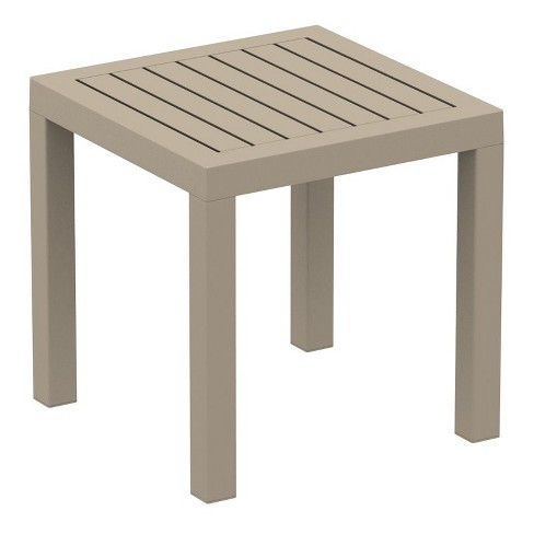Ocean Square Resin Patio Side Table in Dove Gray - Compamia - image 1 of 2
