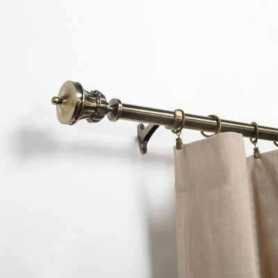 Stainless Steel and Aluminum Expandable Antique Bronze Window Curtain Rod by Blue Nile Mills