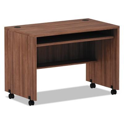 Alera Valencia Series Mobile Workstation Desk, 41.38 x 23.63 x 30, Mod Walnut VA204224WA