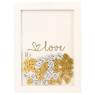 Gold Heart Guestbook Dropbox - Love