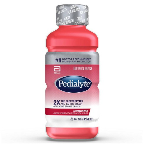 Pedialyte Electrolyte Solution - Strawberry - 16.9 fl oz - image 1 of 4