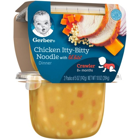 Gerber 2pk Lil Bits Chicken Itty Bitty Noodle Dinner Baby Food