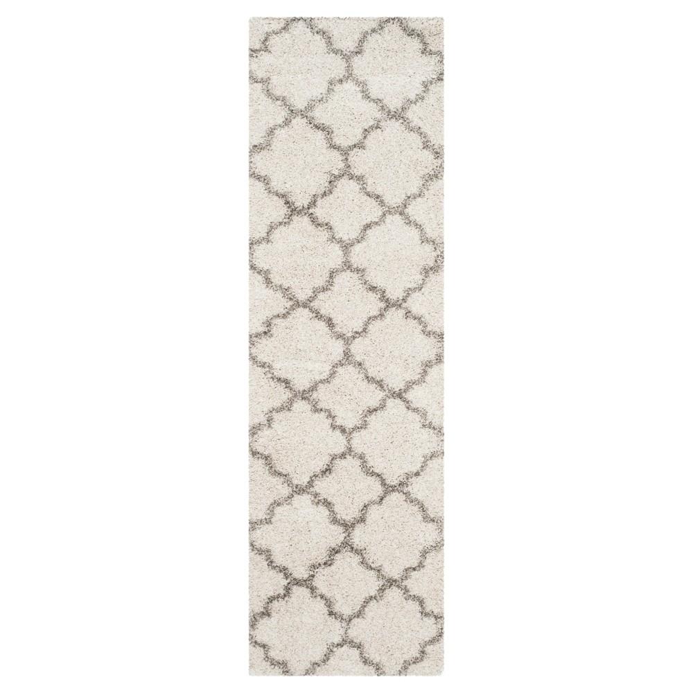 Hudson Shag Rug Ivory Gray 2 39 3 34 X12 39 Safavieh