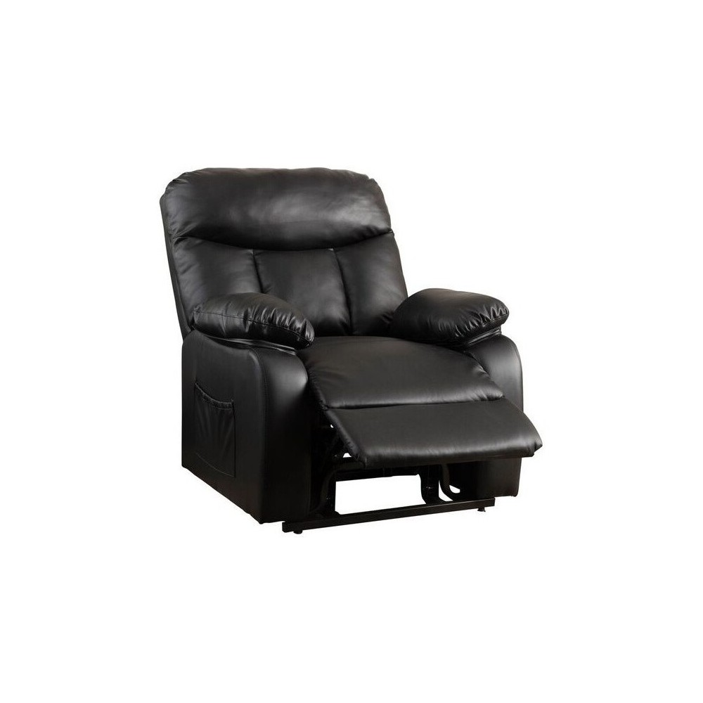 Quade Faux Leather Lift Up Chair - Black - Christopher Knight Home