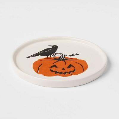 "6"" Stoneware Pumpkin Appetizer Plate - Threshold™"