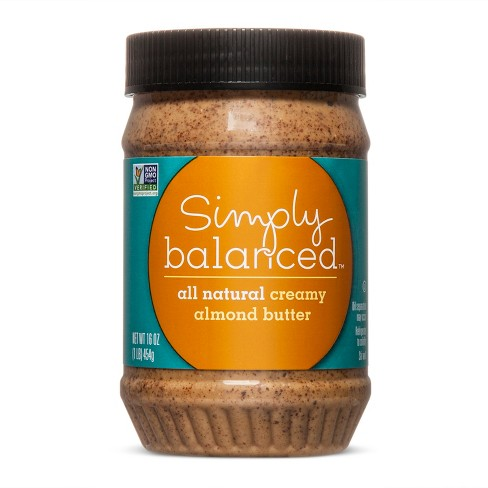 All Natural Creamy Almond Butter 16oz Simply Balanced