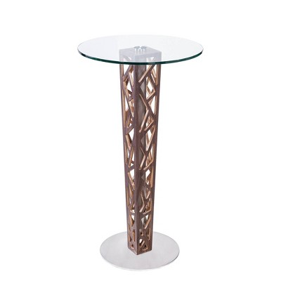 Portsmouth Bar Table Steel/Clear - Armen Living