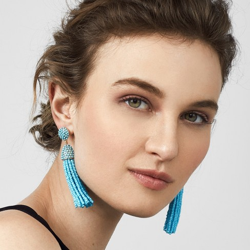 954db668d SUGARFIX By BaubleBar Beaded Tassel Earrings - Turquoise : Target
