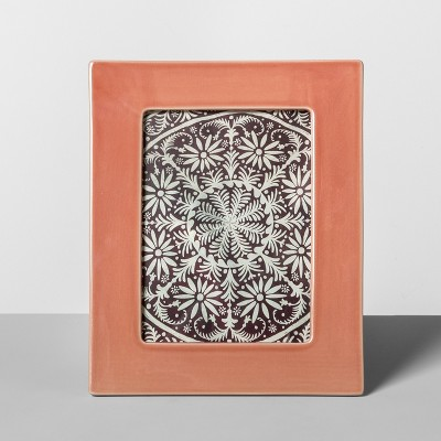 Crackle Ceramic Frame Peach 5 x7  - Opalhouse™