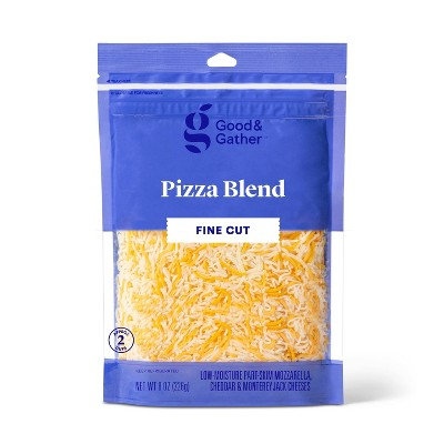 Finely Shredded Pizza Blend Cheese - 8oz - Good & Gather™