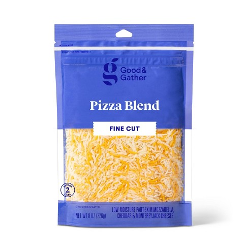 Finely Shredded Pizza Blend Cheese - 8oz - Good & Gather™ - image 1 of 2