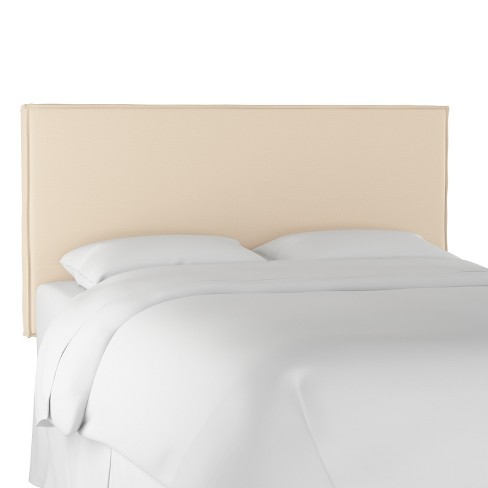 Queen french seam slipcover headboard twill natural - Simply shabby chic bedroom furniture ...
