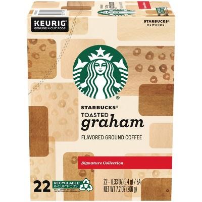 Starbucks Toasted Graham Blonde Light Roast Coffee - Keruig K-Cup Pods - 22ct