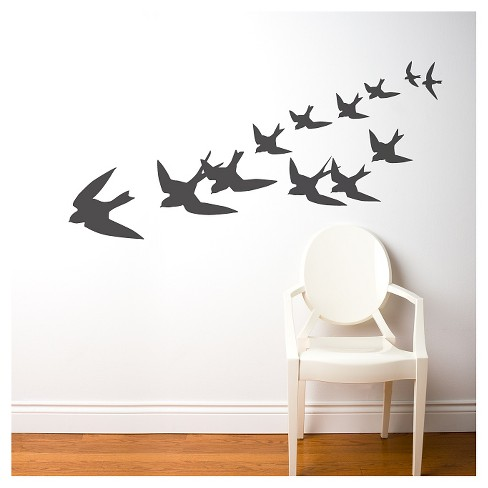 Freedom Birds Wall Decal - Black - image 1 of 1