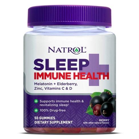 Natrol Sleep + Immune Health Sleep Aid Gummies - Berry - 50ct - image 1 of 4