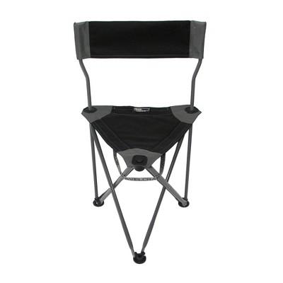 TravelChair Ultimate Slacker 2.0 Portable Outdoor Folding Stool Seat, Black