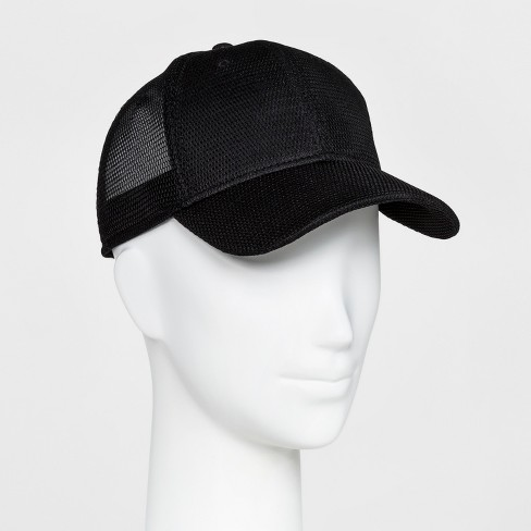 Women s Mesh Back Baseball Hat - Mossimo Supply Co.™ Black   Target 31259c4128