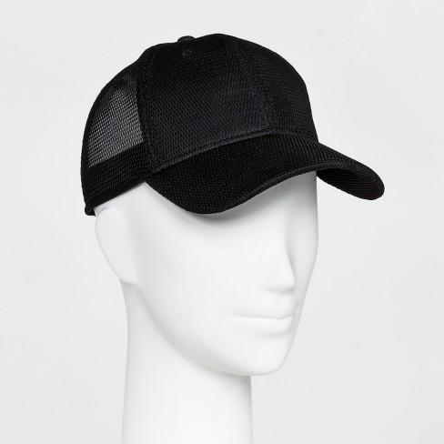 Women s Mesh Back Baseball Hat - Mossimo Supply Co.™ Black   Target fe717e100ba4