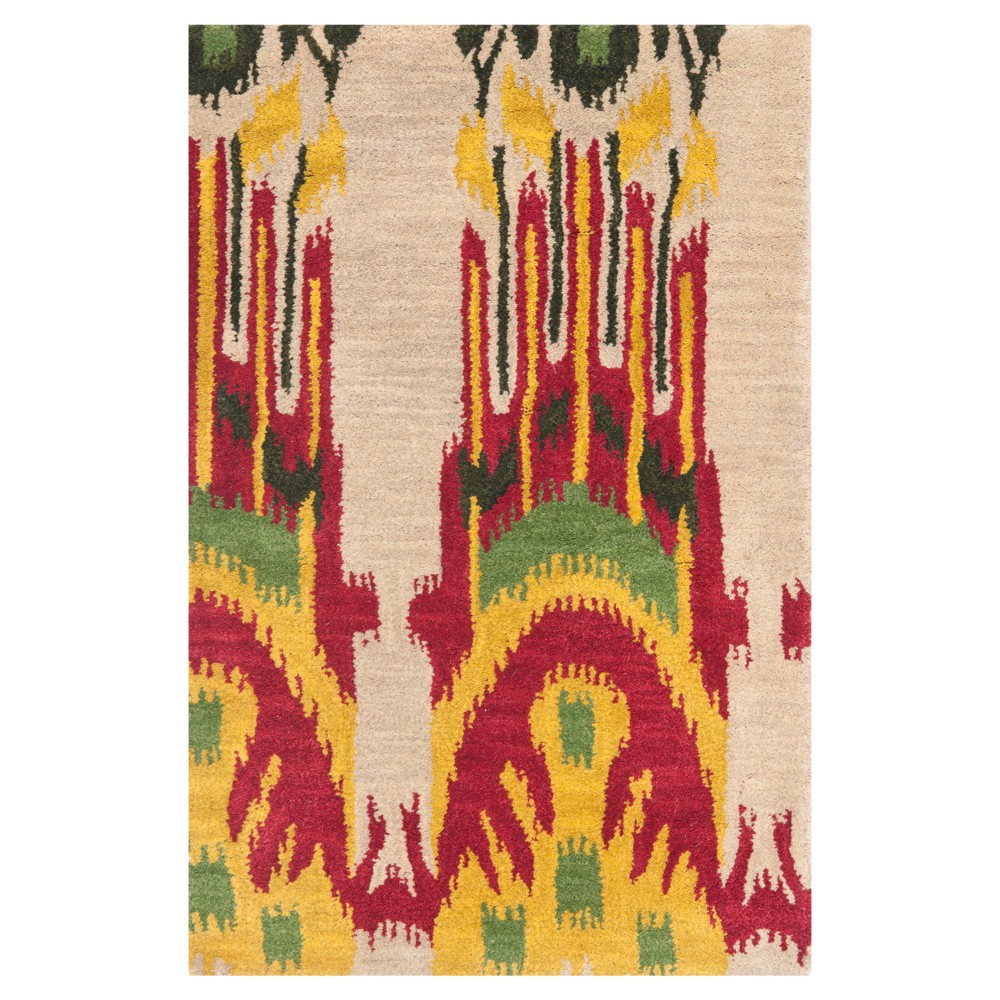 Beige/Yellow Tribal Tufted Accent Rug - (2'X3') - Safavieh