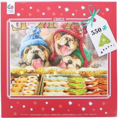 Ceaco, Inc Bulldogs and Bakery 550 Piece Christmas Jigsaw Puzzle