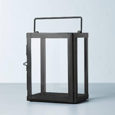 Galvanized Iron Pillar Candle Lantern Black - Hearth & Hand™ with Magnolia