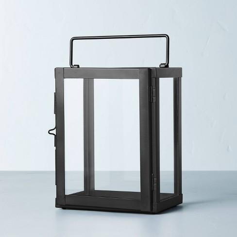 Galvanized Iron Pillar Candle Lantern Black - Hearth & Hand™ with Magnolia - image 1 of 4