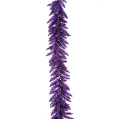 Vickerman Purple Artificial Christmas Garland