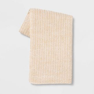 Heathered Knit Throw Neutral - Threshold™