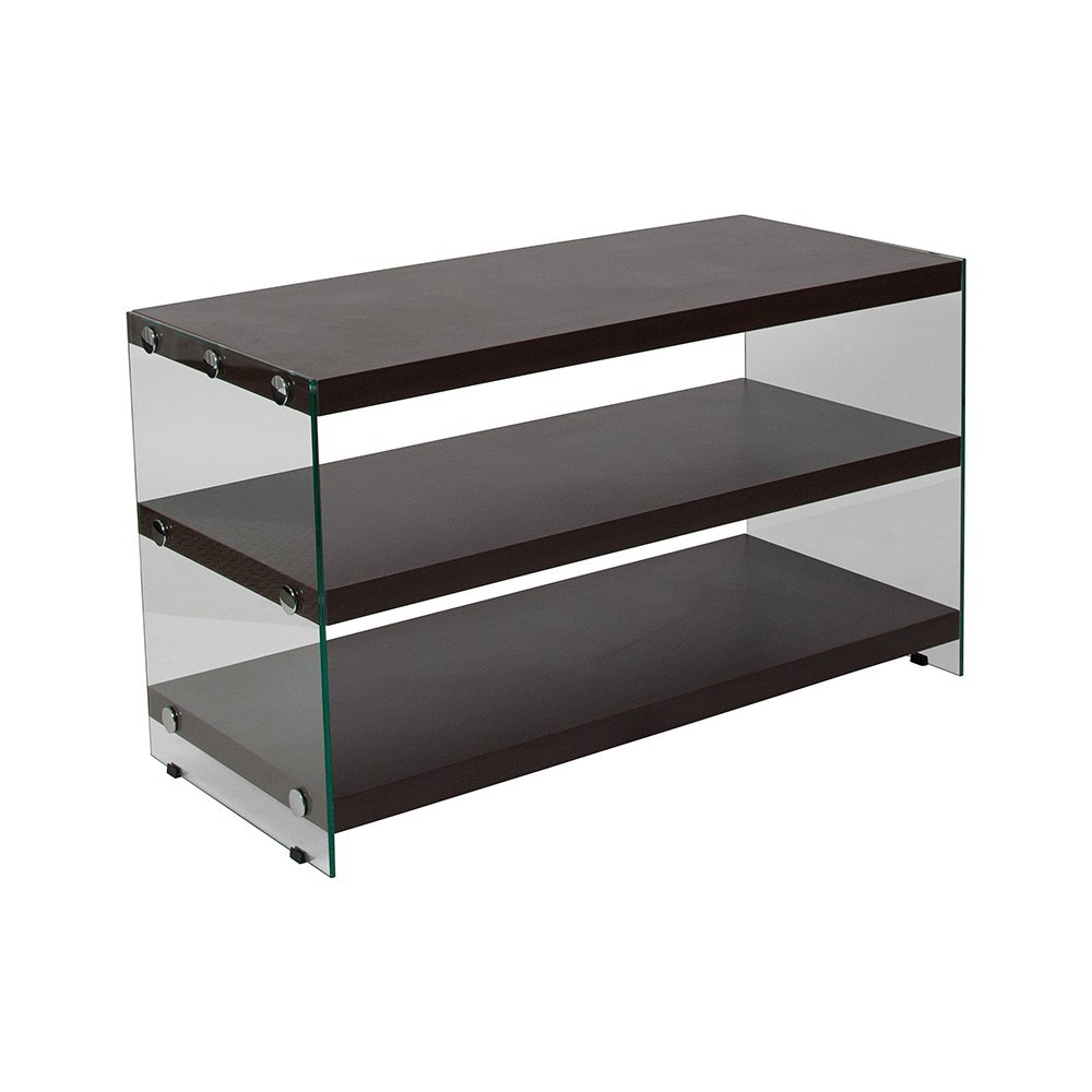 TV Stand with Shelves Brown - Riverstone Furniture TV Stand with Shelves Brown - Riverstone Furniture