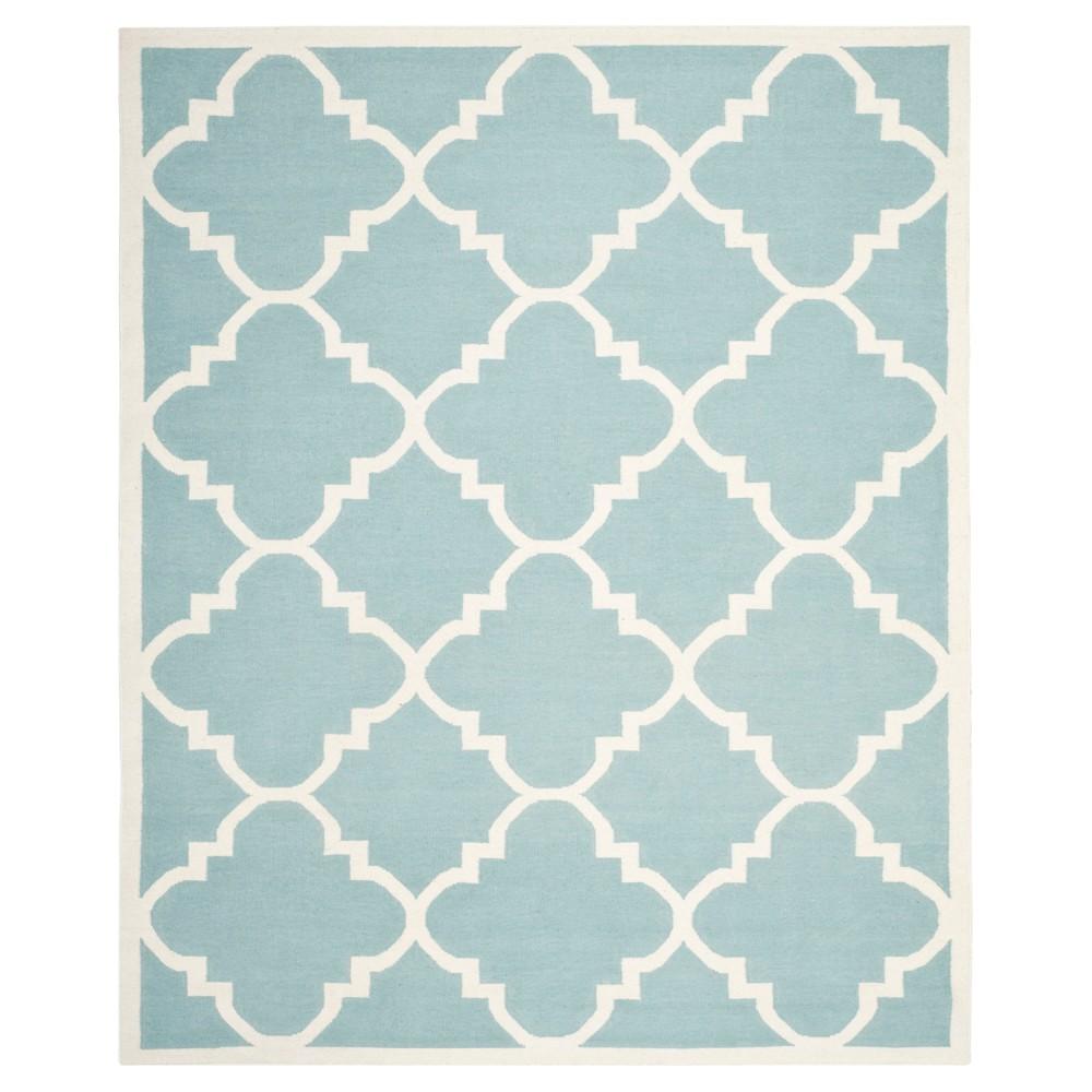 Check price Mazagan Dhurry Rug - Light Blue Ivory - (6x9) - Safavieh