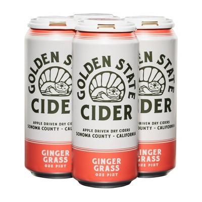 Golden State Ginger Grass Hard Cider - 4pk/16 fl oz Cans