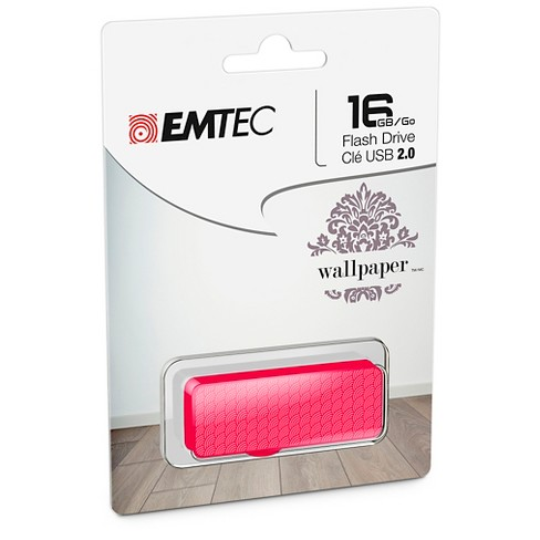 Emtec 16GB USB 2.0 Flash Drive with Wallpaper Patterns (ECMMD16GM700WPM1) - image 1 of 3