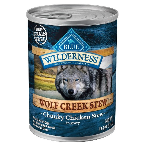 Blue Buffalo Wilderness 100% Grain-Free Chunky Chicken Stew In Gravy Wet Dog Food - 12.5oz - image 1 of 2