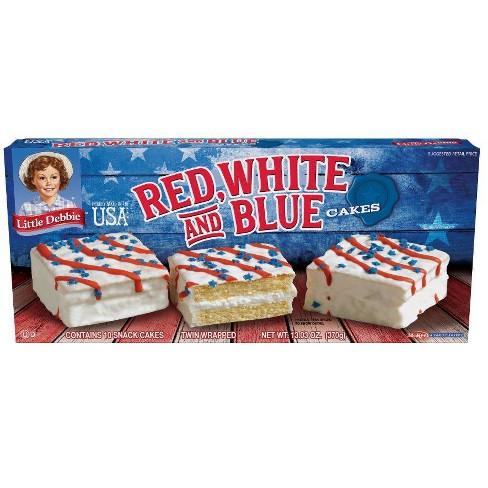 Little Debbie Red, White, & Blue Cakes vanilla - 13.03oz - image 1 of 1
