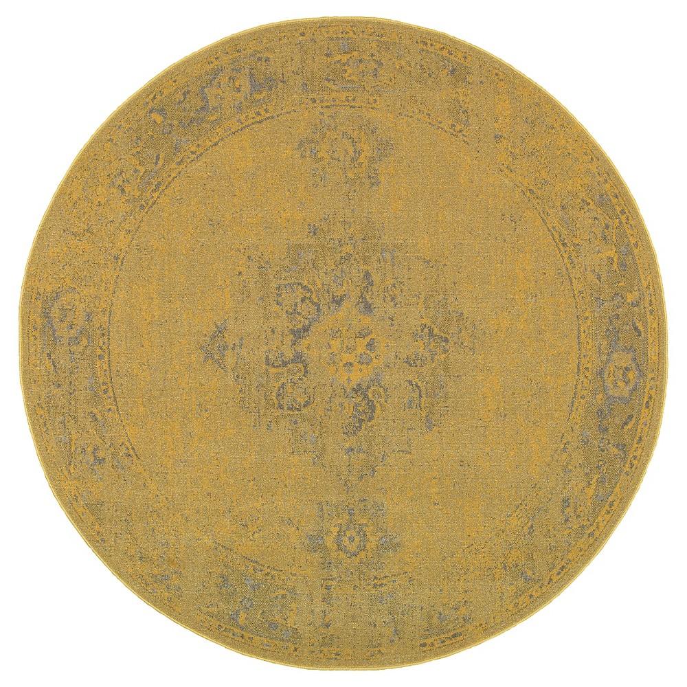 Yellow Fez Area Rug 8' Round - Oriental Weavers